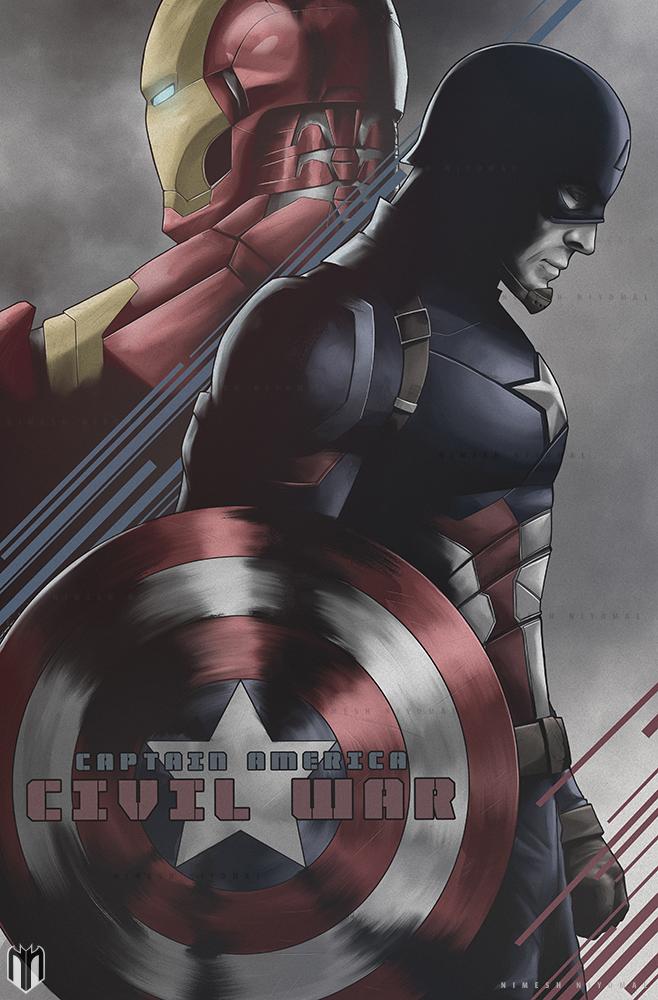 Captain America : Civil War poster by Niyoarts