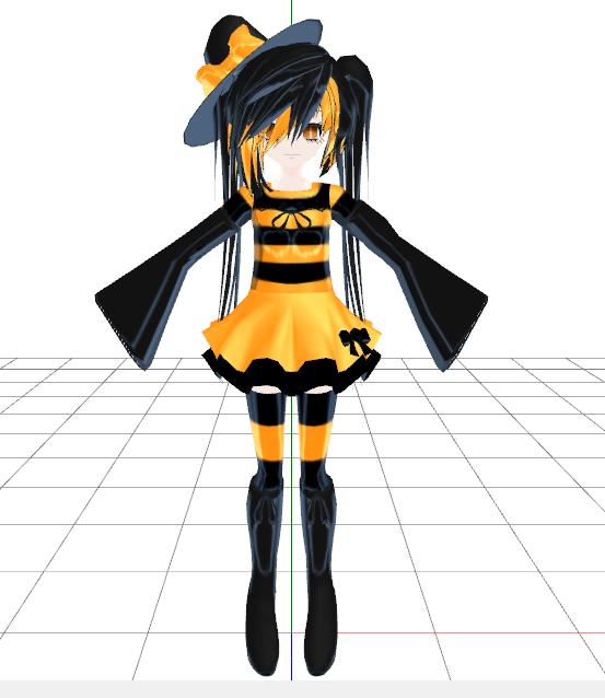 Halloween MMD Model by hirarihirari