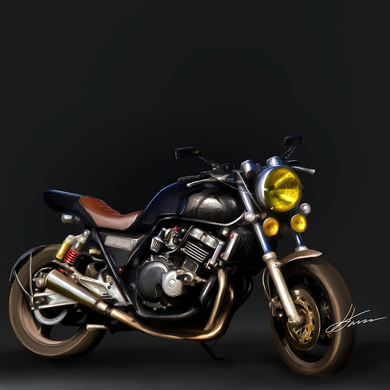 Honda CB400 Digital Illustration by LuisFaus