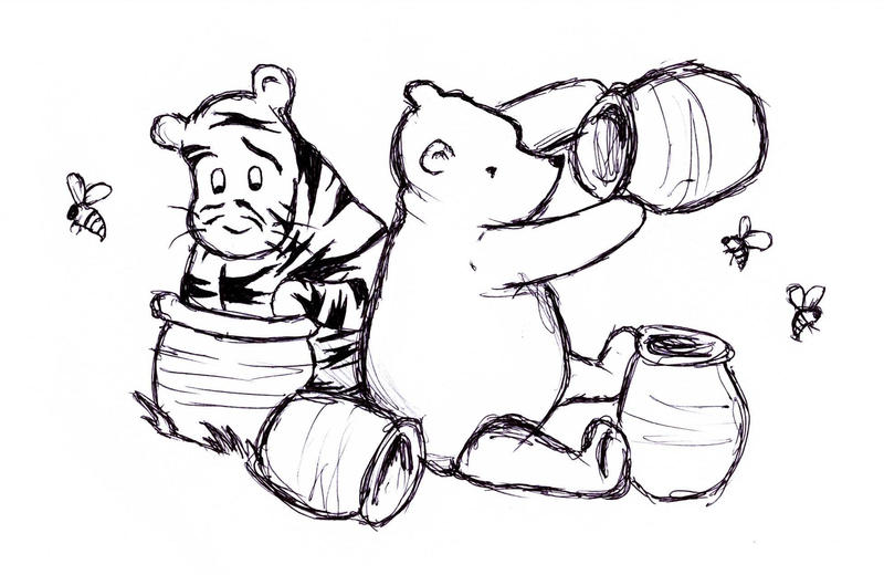 pooh and tigger classic style by erinbann on deviantart