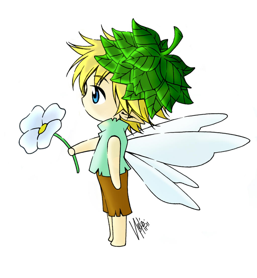 Cute fairy boy digital coloring by Parfaits2 on DeviantArt
