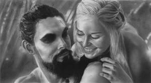 Khal Drogo and Khaleesi by YALIM1907