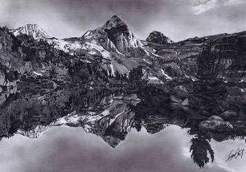 Mountains and Lake by YALIM1907