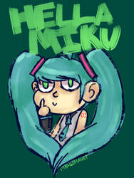 Hella Miku by Noulin123