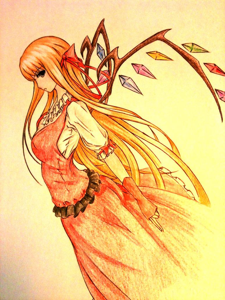 رسومات رائعة Anime_girl___flandre_scarlet_by_ztgong-d56mv57