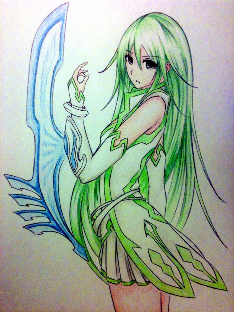 Anime girl - Midori by ztgong