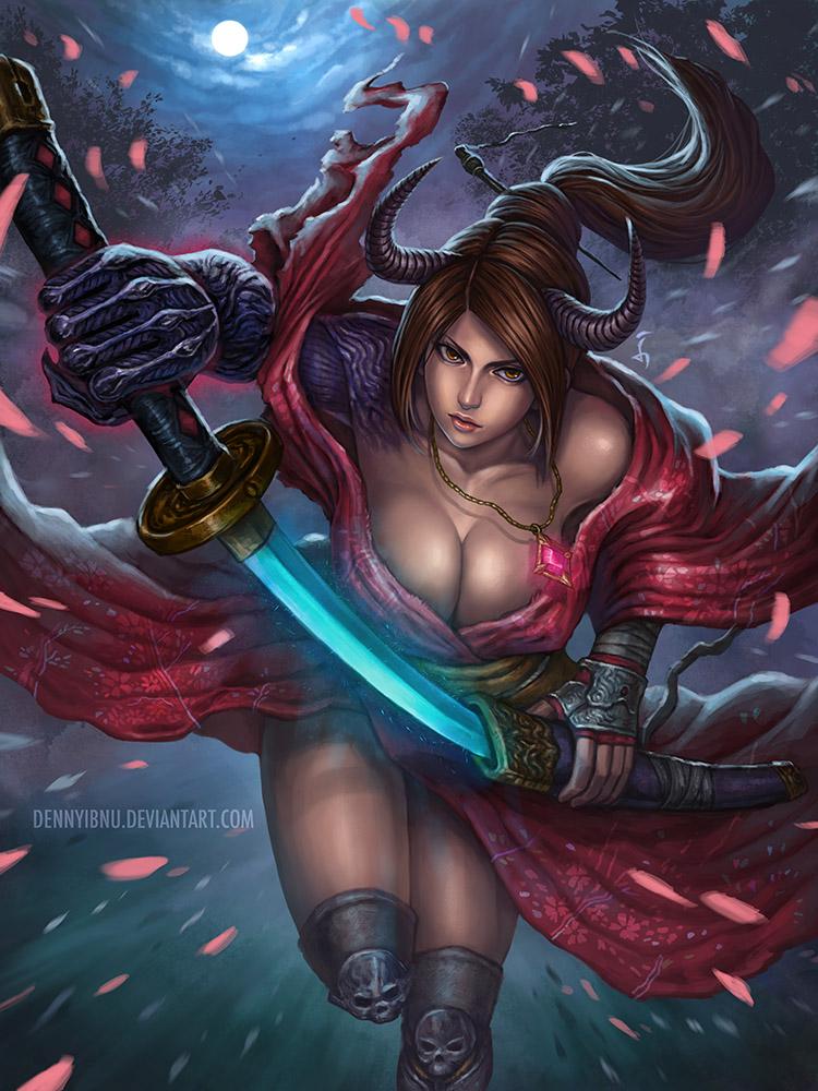 Samurai Girl by denn18art