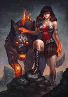 Lava lady by denn18art