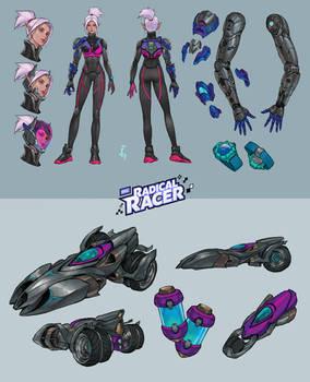 Radical Racer: Levina_Concept Art
