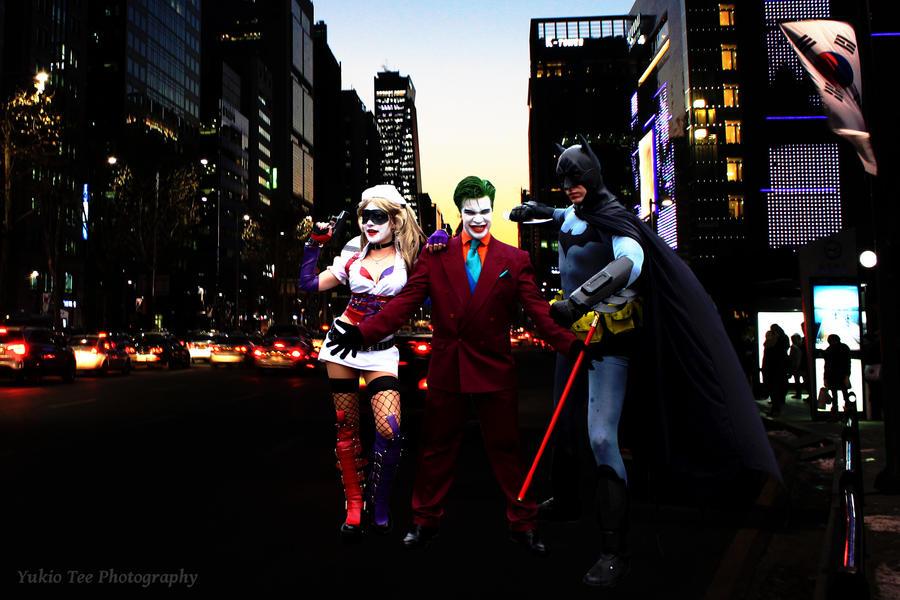 Batman Joker and Harley Quinn
