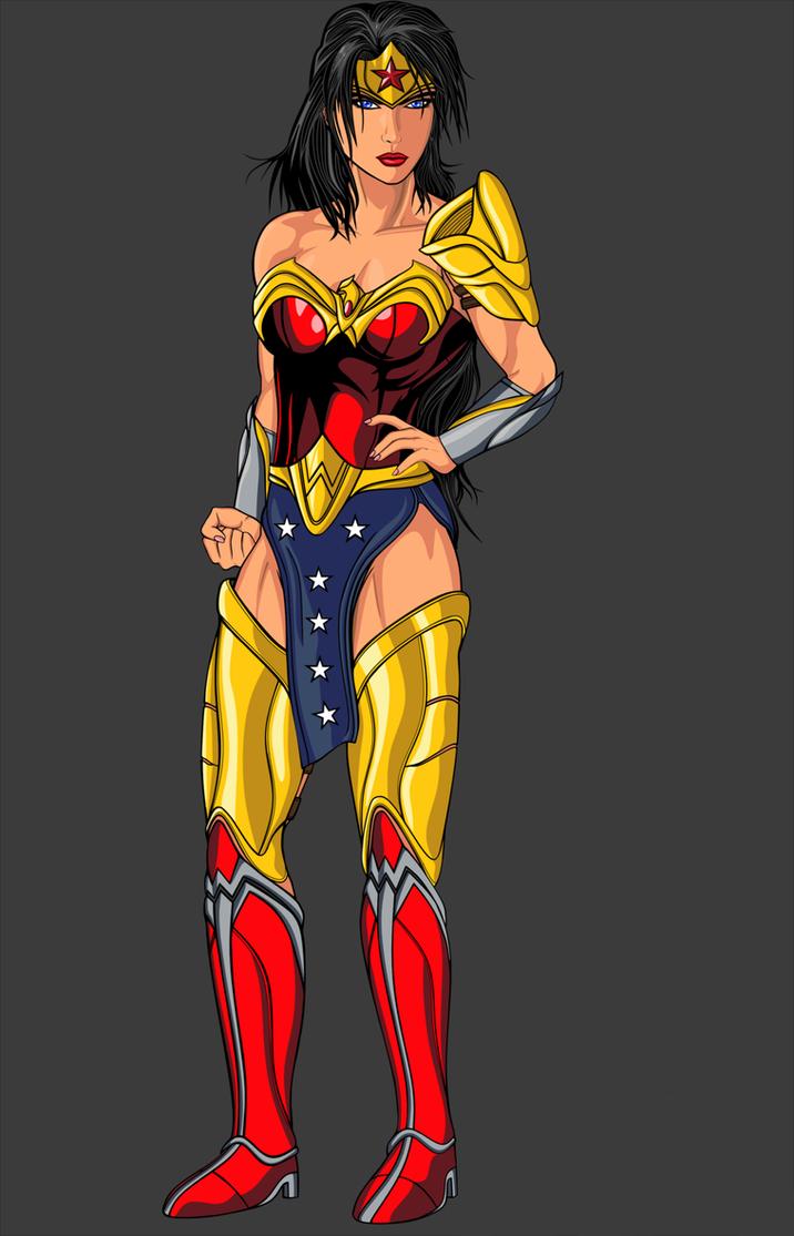 Wonder Woman traje alternativo by BrandonOmegaX by BrandonGuedesOmegaX