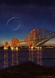 Orbital Over The Forth (Iain Banks 1954 - 2013) by GarySWilkinson