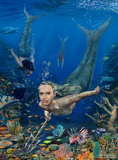 Mermaid Hunt by GarySWilkinson