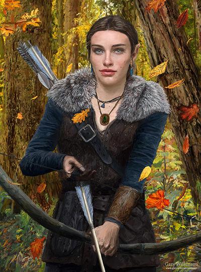 Forest Elf Archer by GarySWilkinson