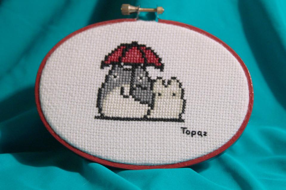 Totoro Cross Stitch View 1 by MissTopaz