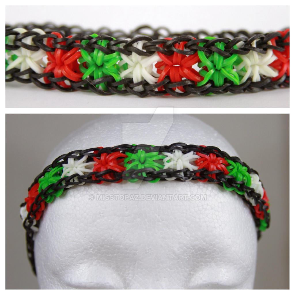 Starburst Rainbow Loom Headband Christmas By MissTopaz On