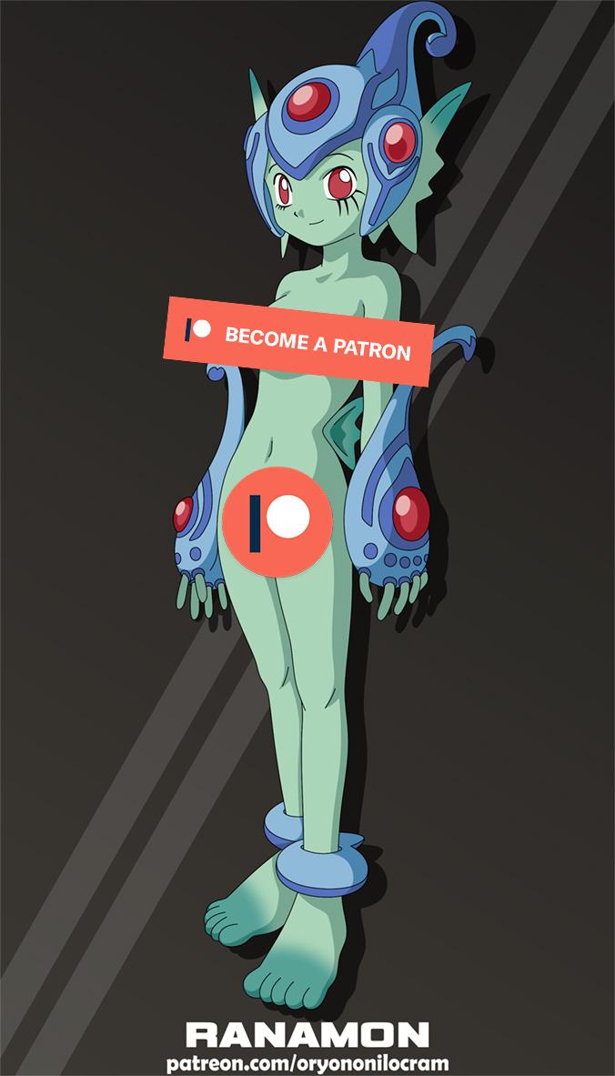 Ranamon (Digimon) by OryonOnilocram