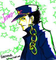 JoJo - Jotaro doodle by FerioWind