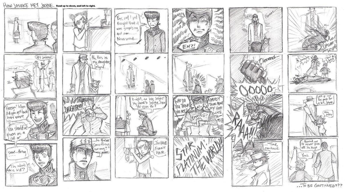 JoJo - How Josuke met Jolyne by FerioWind