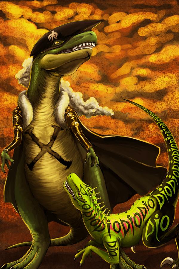 OP+JoJo - Prehistoric Battle by FerioWind