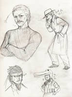 MGS - snake sketches by FerioWind