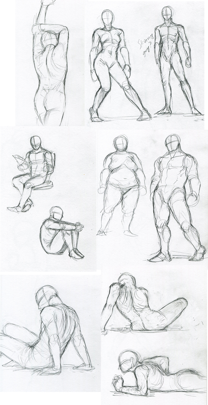 figure sketch practices by FerioWind on DeviantArt
