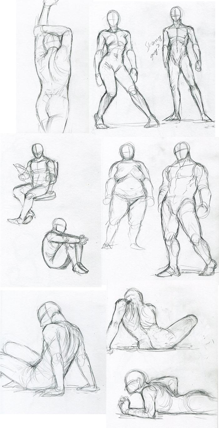 figure sketch practices by FerioWind on DeviantArt