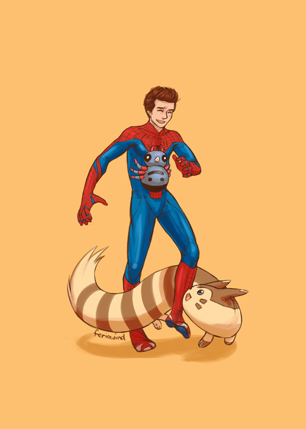 SPIDER-MAN+PKMN - new guy by FerioWind