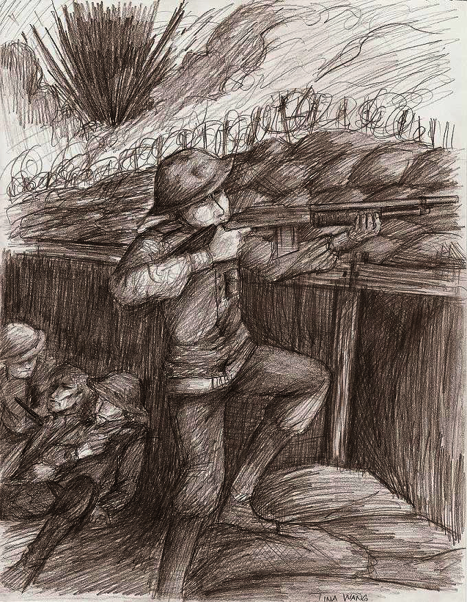 This is a photo of Breathtaking Trench Warfare Drawing
