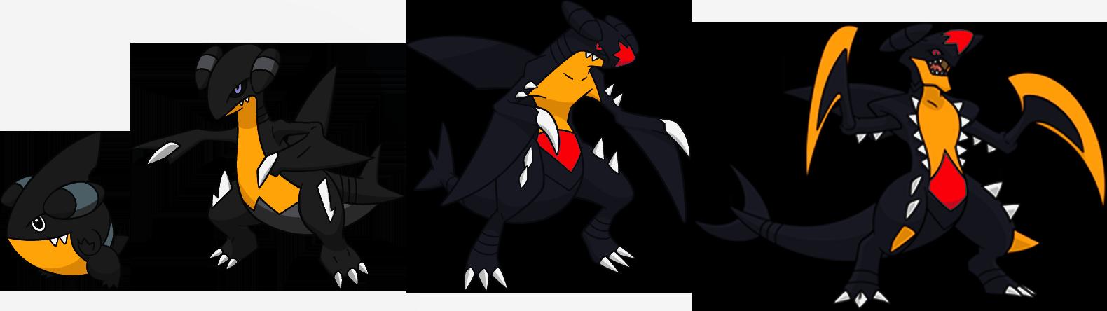 sey sey 12 19 alternate shinies gible gabite mega garchomp by high jump - Pokemon Carchacrok