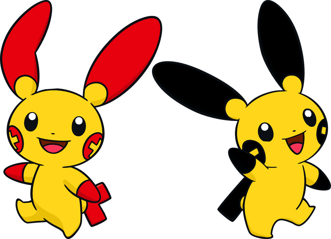Alternate Shinies Plusle And Minun By High Jump Kick