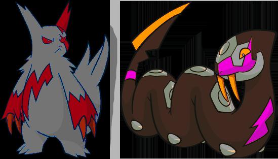 Alternate Shinies: Zangoose and Seviper by high-jump-kick