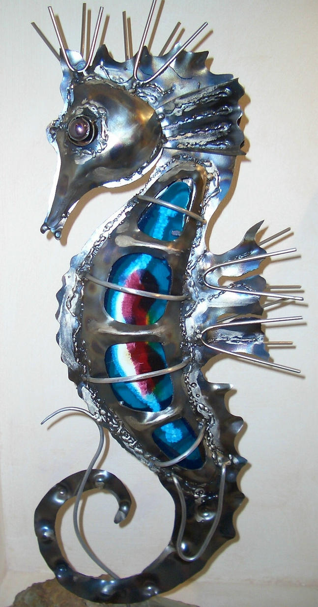 metal seahorse by riva on deviantart. Black Bedroom Furniture Sets. Home Design Ideas