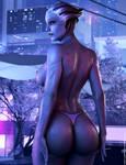 Purple Night - Liara Tsoni Mass Effect by Major-Guardian
