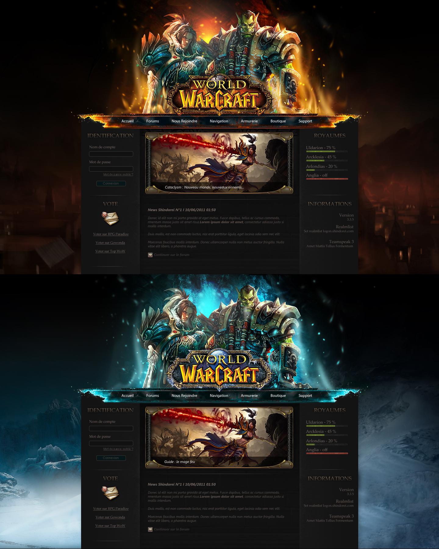 world of warcraft private server website template artistsprogs