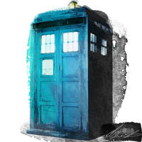 Water Colour Tardis Paint by Tomsworld642