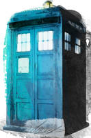 Water Colour Tardis Paint ( Phone Cover ) by Tomsworld642