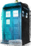Water Colour Tardis Paint ( Phone Cover )