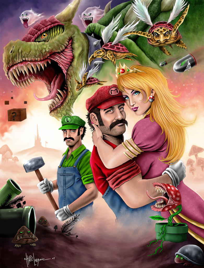 The Mario bros. by LabrenzInk