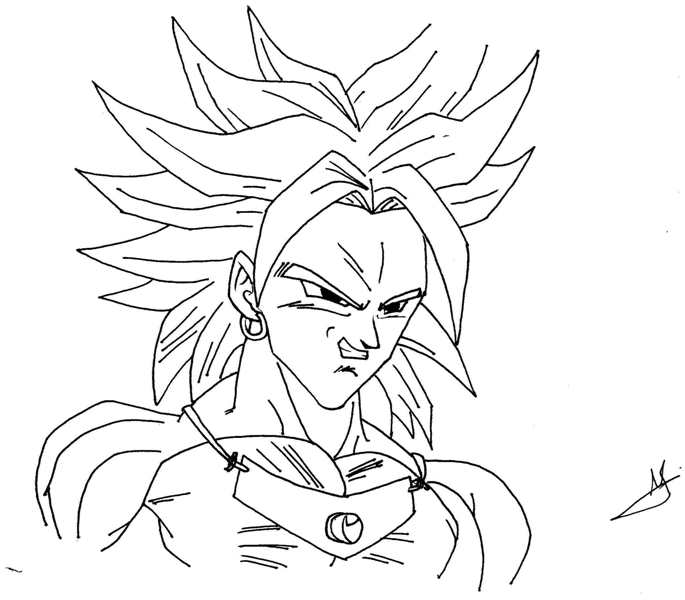 Comment dessiner broly - Coloriage broly ...
