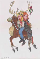 reindeer by MrsAdler666
