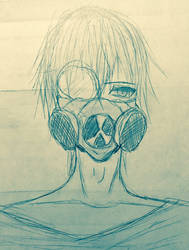 Gas Mask Boy by KariNikiSama