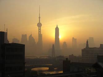 Shanghai at Dawn by nuriko-chan