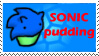 Sonic Pudding Stamp by AbrilTheMareep