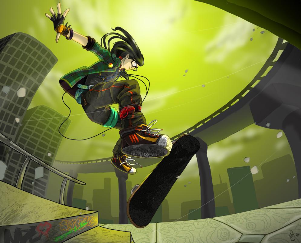 Skrillex Jump by AbrilTheMareep