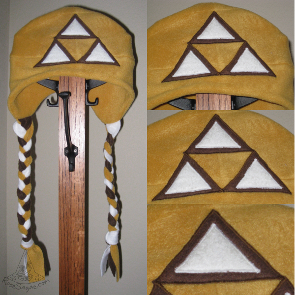 Brown and Gold Tri-Delt Hat by RoseSagae
