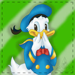 Donald Tee-Hee Quilt Piece by RoseSagae