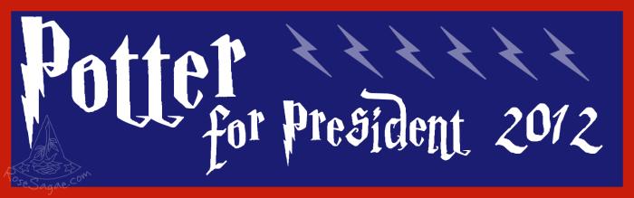 Potter for Prez Bumper Sticker by RoseSagae