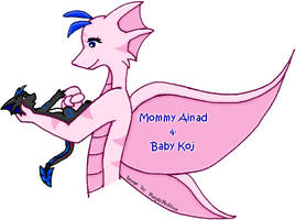 Mommy Ainad and Baby Koj by RoseSagae