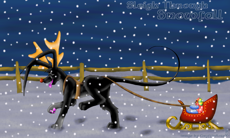Sleigh through Snowfall by RoseSagae